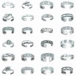 TR-A024 Random Toe Ring Assortment 24 Pieces